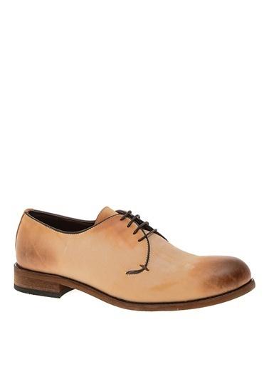 Penford Penford Düz n Bağcıklı Deri Erkek Klasik Ayakkabı Bej